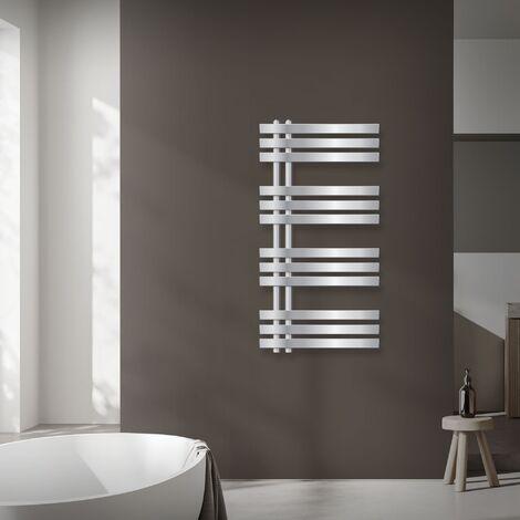 ECD Germany Iron EM Design Radiateur sèche-serviettes - 500 x 1000 mm - Chrome - Sèche serviettes chauffant - pas électrique