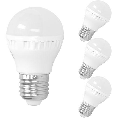 ECD Germany Lámpara LED de 3 piezas 3W - reemplaza a 25W - E27 - blanco cálido - 2800 Kelvin - 200 lúmenes - bombilla LED[Clase energética A +]