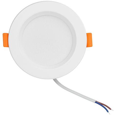 ECD Germany LED Einbaustrahler 5W 230V - Rund Ø98 mm - 350 Lumen - Warmweiß 3000K - Einbauleuchte Einbauspot Deckenleuchte Leuchtmittel Lampe Spot