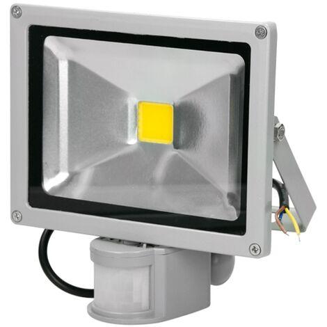 ECD Germany LED Flutlicht Strahler Außen 20W mit Bewegungsmelder - 6000K Kaltweiß - Wasserdicht IP65 - Superhell - Outdoor Sicherheitsleuchte - Fluter Außenstrahler Scheinwerfer Flutlichtstrahler