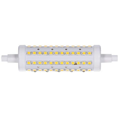 ECD Germany LED Paquete R7S Bombilla LED 12W 118mm 720 Lumen AC 220-240V Ángulo de haz de 360 ° Reemplaza la bombilla halógena de 75W Blanco cálido no regulable [Clase de energía A ++]
