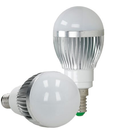 ECD Germany LED Spot regulable 3W E14 RGB - Ángulo de haz de 120 ° - 250 lúmenes - control remoto 24 botones - Lámpara de foco