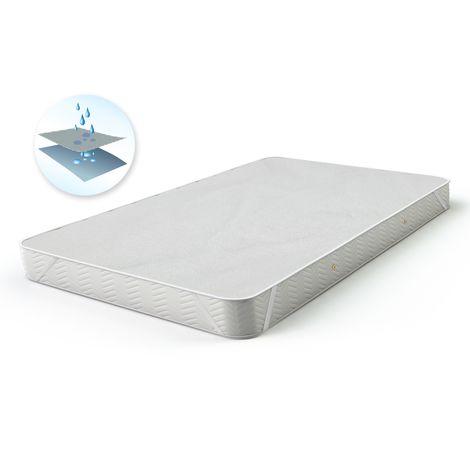 ECD Germany Matratzenauflage - wasserdichter Matratzenschoner mit Inkontinenzschutz - 180 x 200 cm - natürliche, atmungsaktive Baumwolle - mit 4 Eckgummis - auch für Wasserbetten geeignet