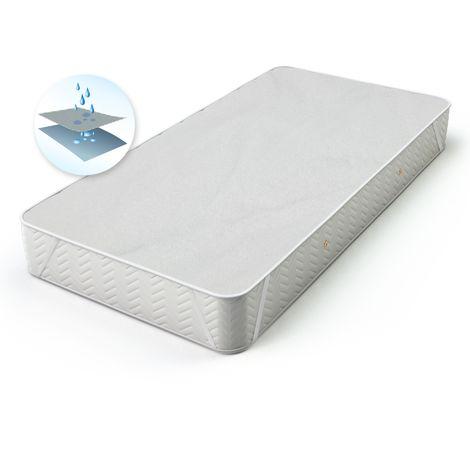 ECD Germany Matratzenauflage - wasserdichter Matratzenschoner mit Inkontinenzschutz - 70 x 140 cm - natürliche, atmungsaktive Baumwolle - mit 4 Eckgummis - auch für Wasserbetten geeignet
