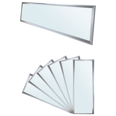 ECD Germany panneau LED 42W - 120 x 30 cm - 6 er-Pack - Ultraslim mince - SMD 3014 - 6000K cool White - 220-240 V - environ 3010 lumens - Plafonnier encastré