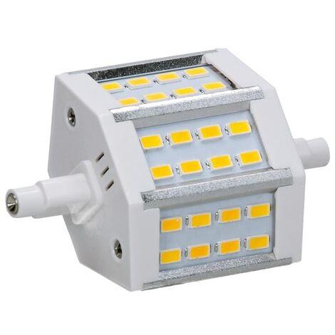 ECD Germany R7S Lampe LED 5W 78mm 360 lumens SMD 360 5730 AC 220-240 angle de faisceau 180 ° remplace 35W ampoule halogène réglable blanc chaud
