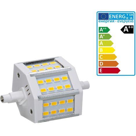 ECD Germany R7S Lampe LED 5W 78mm 360 lumens SMD 360 5730 AC 220-240 angle de faisceau 180 ° remplace 35W ampoule halogène réglable blanc neutre