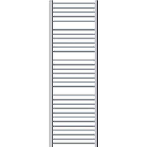 ECD Germany Radiador Calentador de toallas radiador de baño en acero cromado - 600 x 1800 mm - Cromo - Recto con conexión lateral - Toallero