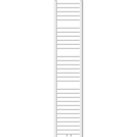 ECD Germany Radiador de baño - 300 x 1800 mm - blanco - diseño plano - con conexión central - secador de toalla - No electrico