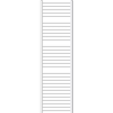 ECD Germany Radiador de Diseño - Curvado - Radiador Toallero Radiador de Calefacción - 500 x 1800 mm - Blanco - con Conexión Lateral