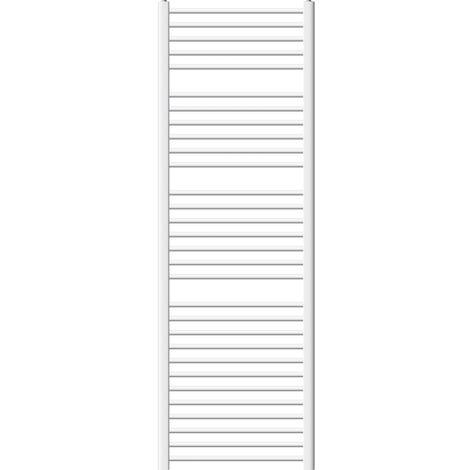ECD Germany Radiador de Diseño moderno - Plano - Radiador Toallero Radiador de Calefacción - 600 x 1800 mm -Blanco - con Conexión Lateral - no electrico