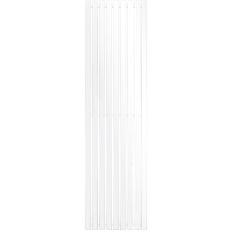 ECD Germany Radiador de panel Stella Design - 480 x 1800 mm - Blanco - Calefacción Central Agua - Toalleros de agua para la calefaccion