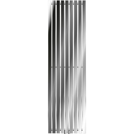 ECD Germany Radiador Stella - Radiador de Diseño Vertical - radiador de panel - 480 x 1600 mm - cromo - Toallero agua calefaccion