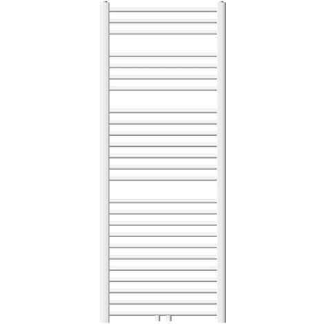 ECD Germany Radiador Toallero - 600 x 1500 mm - Recto - Blanco - Radiador de Calefacción - con Conexión Central - Radiador de calefacción toallero - no electrico