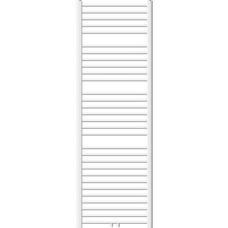 ECD Germany Radiador Toallero - 600 x 1800 mm- Curvado - Radiador de Calefacción- Blanco - con Conexión Central - no eléctrico