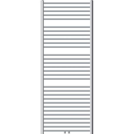 ECD Germany Radiador toallero 750 x 1800 mm - cromado - plano - con conexión central Radiador de agua