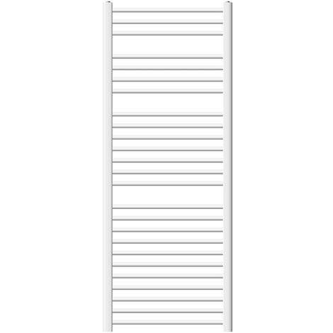 ECD Germany Radiador toallero para baño - 600 x 1500 mm - blanco - curvado con conexión lateral - Secador de toallas