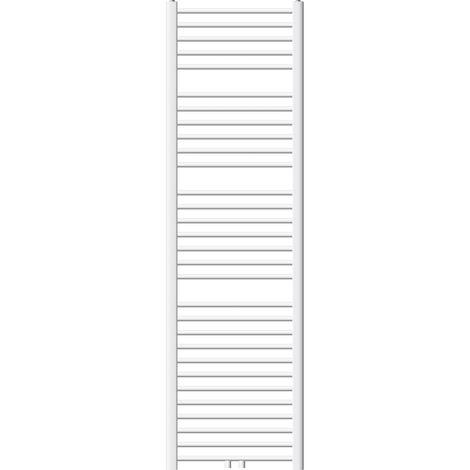 ECD Germany Radiateur de salle de bain - 500 x 1800 mm - blanc - courbé avec raccordement central - sèche-serviettes - pas électrique