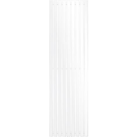ECD Germany Radiateur vertical Stella Design - 480 x 1600 mm - Blanc - Radiateur sèche-serviettes pour salle de bain - pas électrique