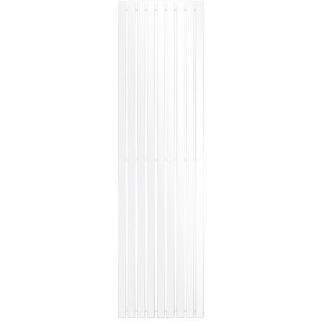 ECD Germany Radiateur vertical Stella Design - 480 x 1800 mm - Blanc - Radiateur sèche-serviettes pour salle de bain - pas électrique