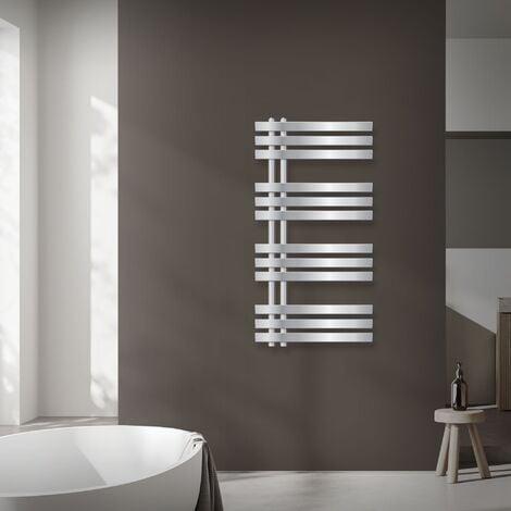 Radiatore Scaldasalviette Asciugabiancheria 400x1200 mm ECD Germany Radiatore Scaldasalviette Sahara Cromato Curvo con Chiusura Centrale 400 x 1200 mm