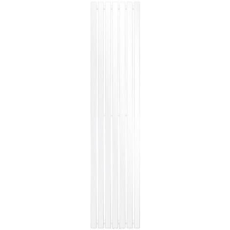 ECD Germany Radiatore Termosifone Termparredo Scaldasalviette Stella Verticale Piatto - 370 x 1800 mm Bianco Radiatore Scaldasalviette Asciugamani da bagno Verticale Piatto 370x1800 mm non elettrico
