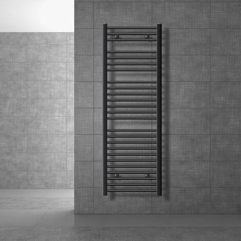 ECD Germany Sahara Radiador de toallas - 500 x 1500 mm mm - Antracita - curvado - con conexión lateral - Radiador secador