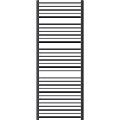 ECD Germany Sèche-serviettes de salle de bain Sahara - 750 x 1800 mm - anthracite - courbé avec raccordement latéral - radiateur sèche-serviettes