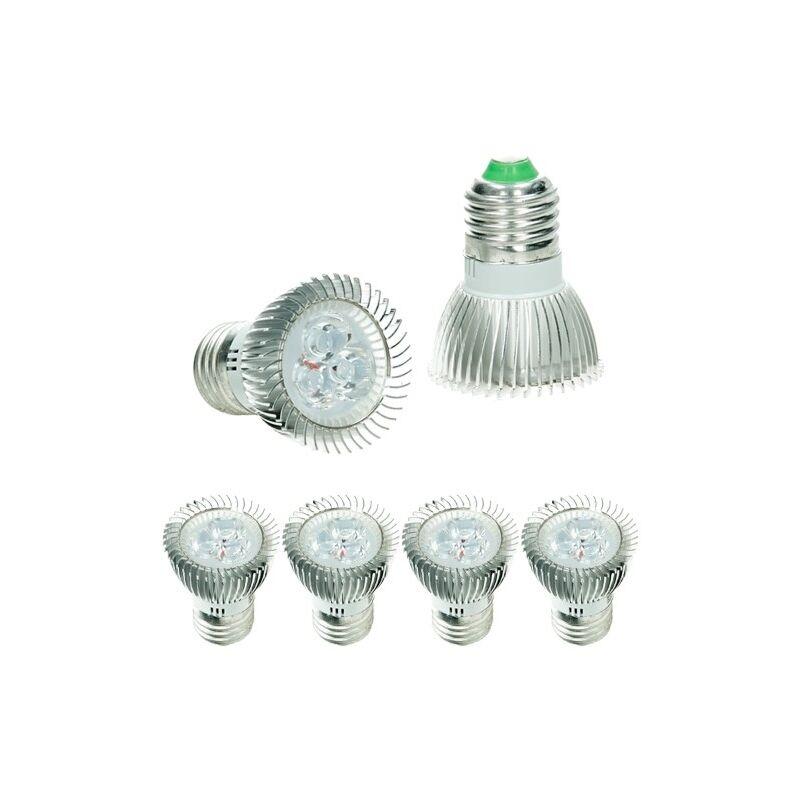 Set 4 Pezzi LED E27 3W - Sostituisce Lampadina Alogena da 20W - circa 217 Lumen - Bianco Freddo 6000K - Lampadine Lampada - Ecd Germany