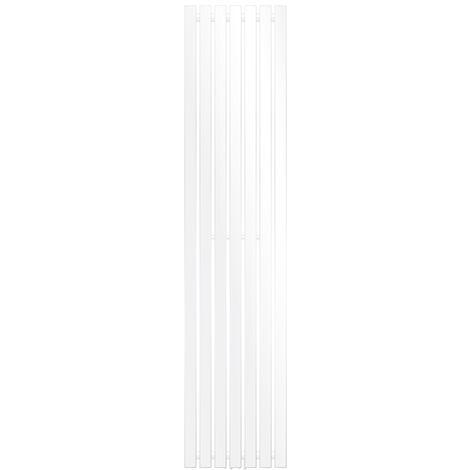 ECD Germany Stella Design Panelheizkörper - 370 x 1600 mm - Weiß - Heizkörper Handtuchwärmer Handtuchtrockner Designheizkörper Badheizkörper