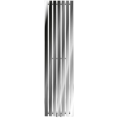 ECD Germany Stella Design Radiador panel - 370 x 1400 mm - Cromado - Radiador toallero de calefacción de agua - Secador de toallas - Radiador de diseño moderno