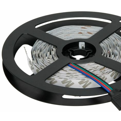 ECD Germany Tira cinta tira luz RGB guirnalda 20m con mando a distancia LED no impermeable Consumo de energía 5-6W / metro