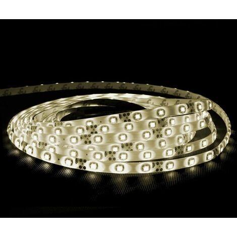 ECD Germany Tira de LED impermeable 8m - fuente de alimentación 3A - Blanco cálido 60 LED/m - Banda de luces de hadas con control remoto