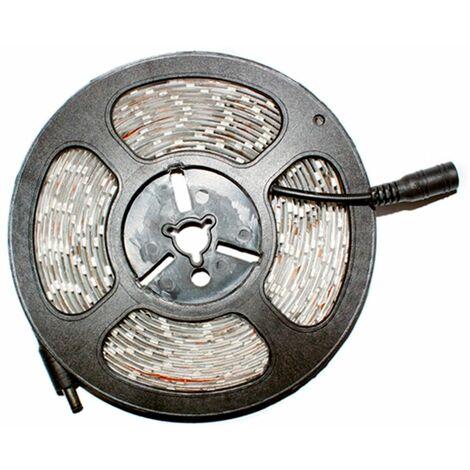 ECD Germany Tira de luz LED guirnalda 7m (5m + 2m) blanco cálido 2800K-3200K LED impermeable 12V 3528 SMD LED