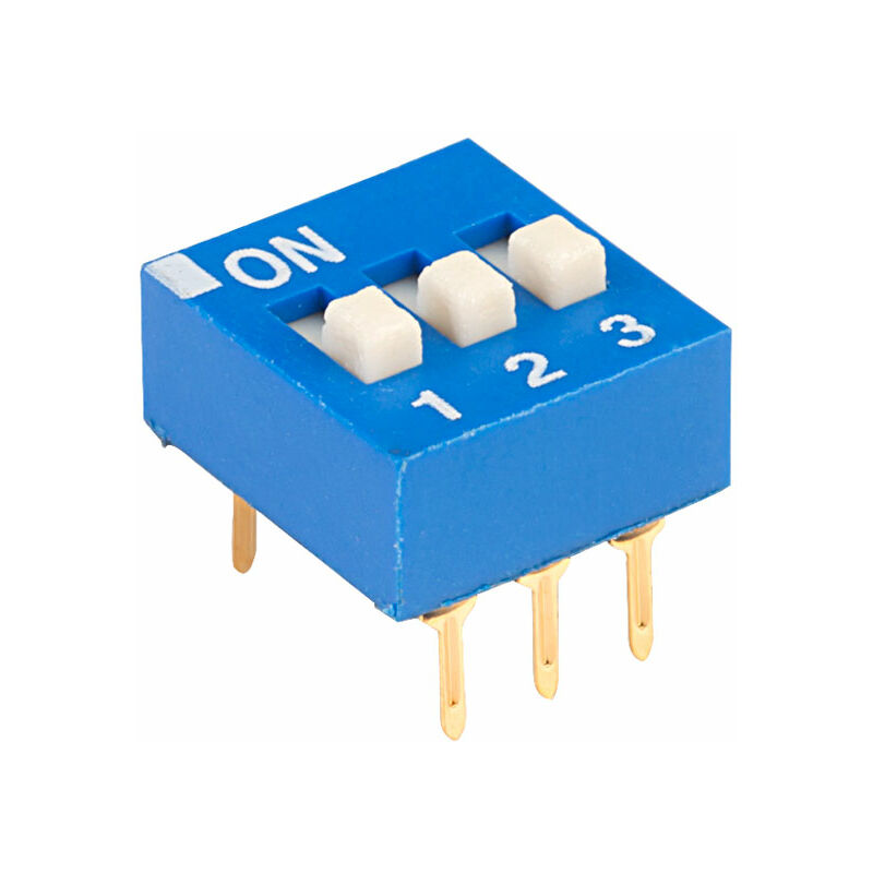 Image of EDG103S Excel 3 Pole 6 Pin DIL Switch - ECE