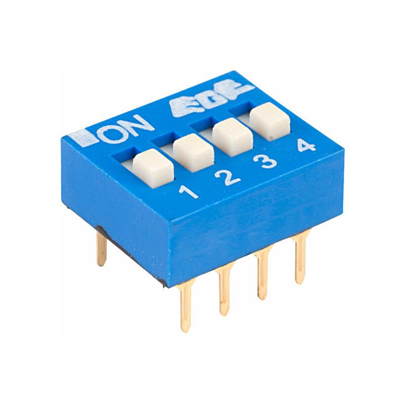 Image of EDG104S Excel 4 Pole 8 Pin DIL Switch - ECE