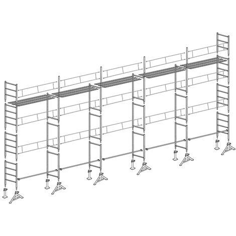 Échafaudage 49 de Maçon 128 m²