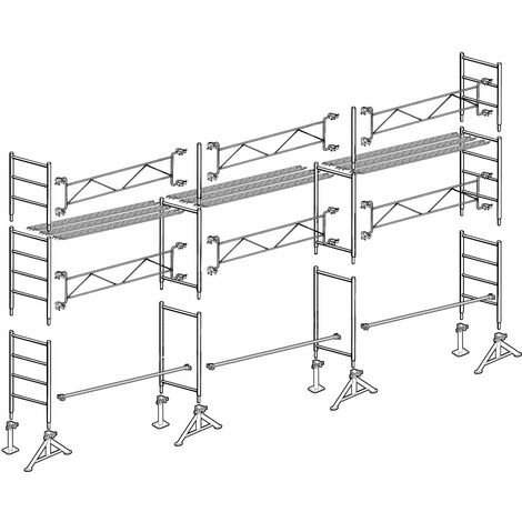 Échafaudage Altrad 49 maçon 60 m²