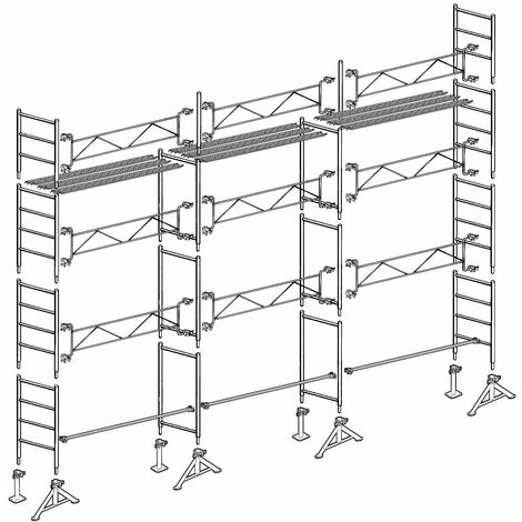 "main image of ""Échafaudage Altrad 49 maçon 80 m²"""
