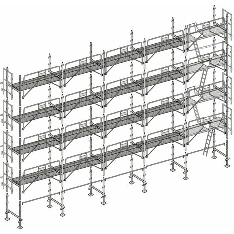 Échafaudage Altrad Façadier 160 m²