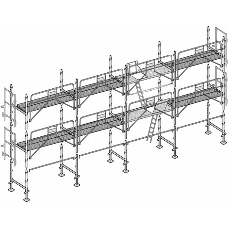 Échafaudage Altrad Façadier 78 m²