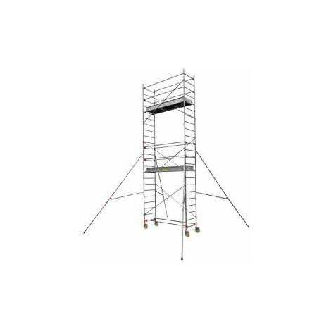 Echafaudage aluminium CENTAURE ST205 SERENITE L 2m05 L 0,69 m H de travail 3m90 - 504742 - -