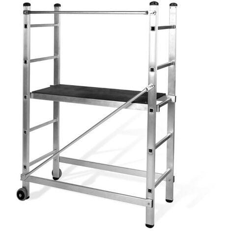 Echafaudage Aluminium VITO Multi usages Hauteur de travail 3 m Plateau 110 x 40 cm