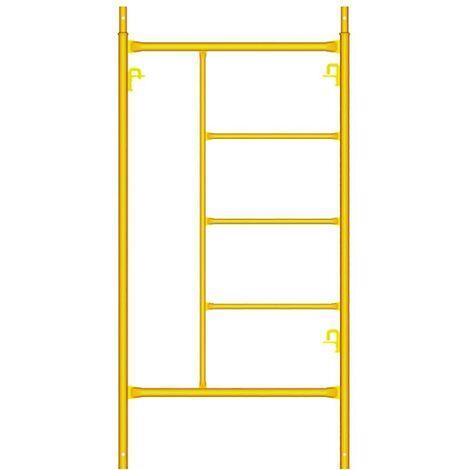 Échafaudage de construction standard Échafaudage 3 marches 2X1Mt jaune Theca