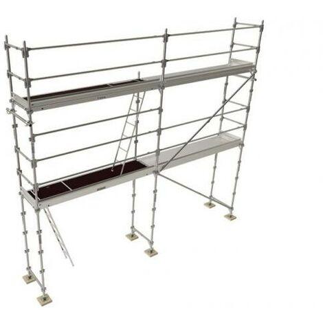 Echafaudage de façade R200 PROGRESS 42m2 structure Lisses et Plateaux acier longueur 6m-Hauteur 4m