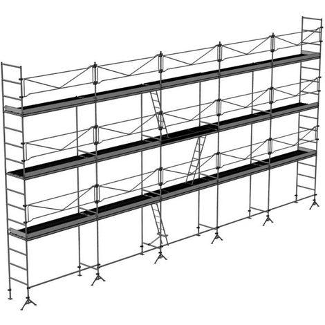 Echafaudage de maçon de 128m² : Structure + Planchers + Plinthes