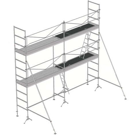 Echafaudage de maçon de 52m²: Structure + Planchers + Plinthes