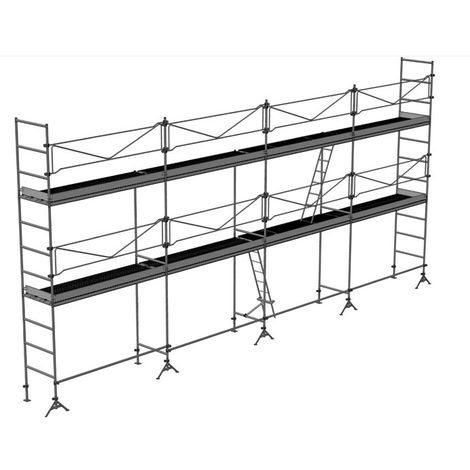 Echafaudage de maçon de 78m² : Structure + Planchers + Plinthes