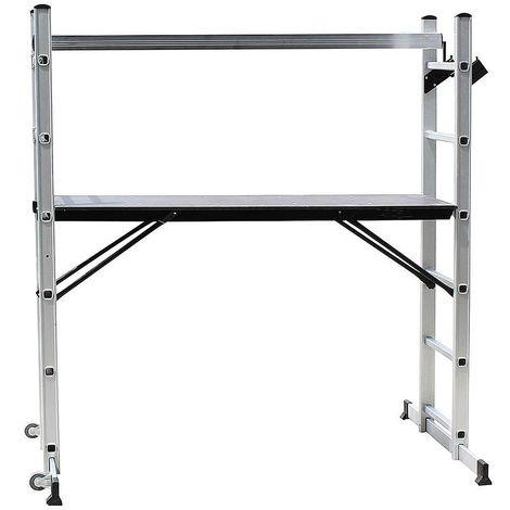 Echafaudage, Échelle Multi-Usage, 168 x 160 x 45 cm, EN 131, Charge maximale: 150 kg