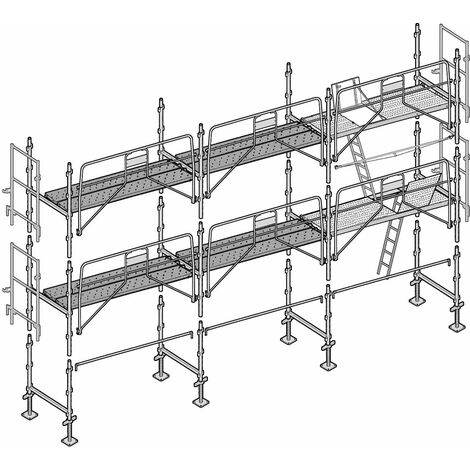 Échafaudage Façadier 60 m²